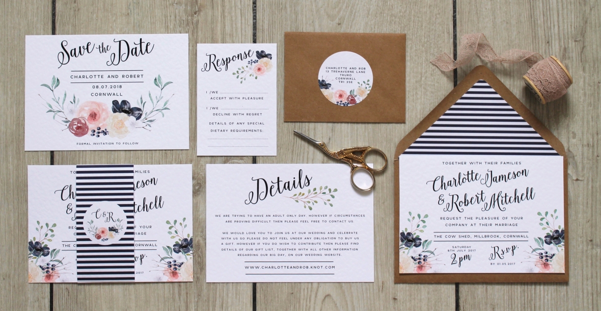 Laura likes bespoke wedding stationery from cornwall uk welcome to laura likes a bespoke wedding stationery service offering everything from save the dates to seating plans to thank you cards in a range of junglespirit Choice Image
