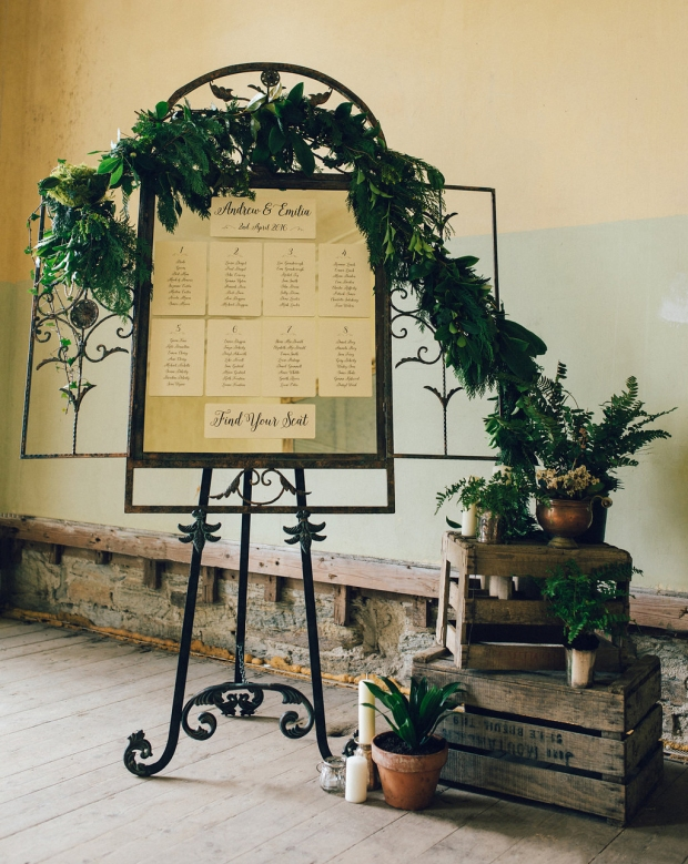 table plan, seating plan, foliage, wedding stationery, Cornwall, Cornish, Laura Likes
