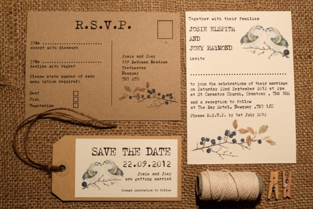 Birds on Branches Wedding iInvitation