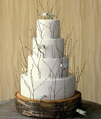 Birds adn Branches Wedding Cake