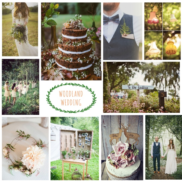 woodland wedding ideas rustic mood board