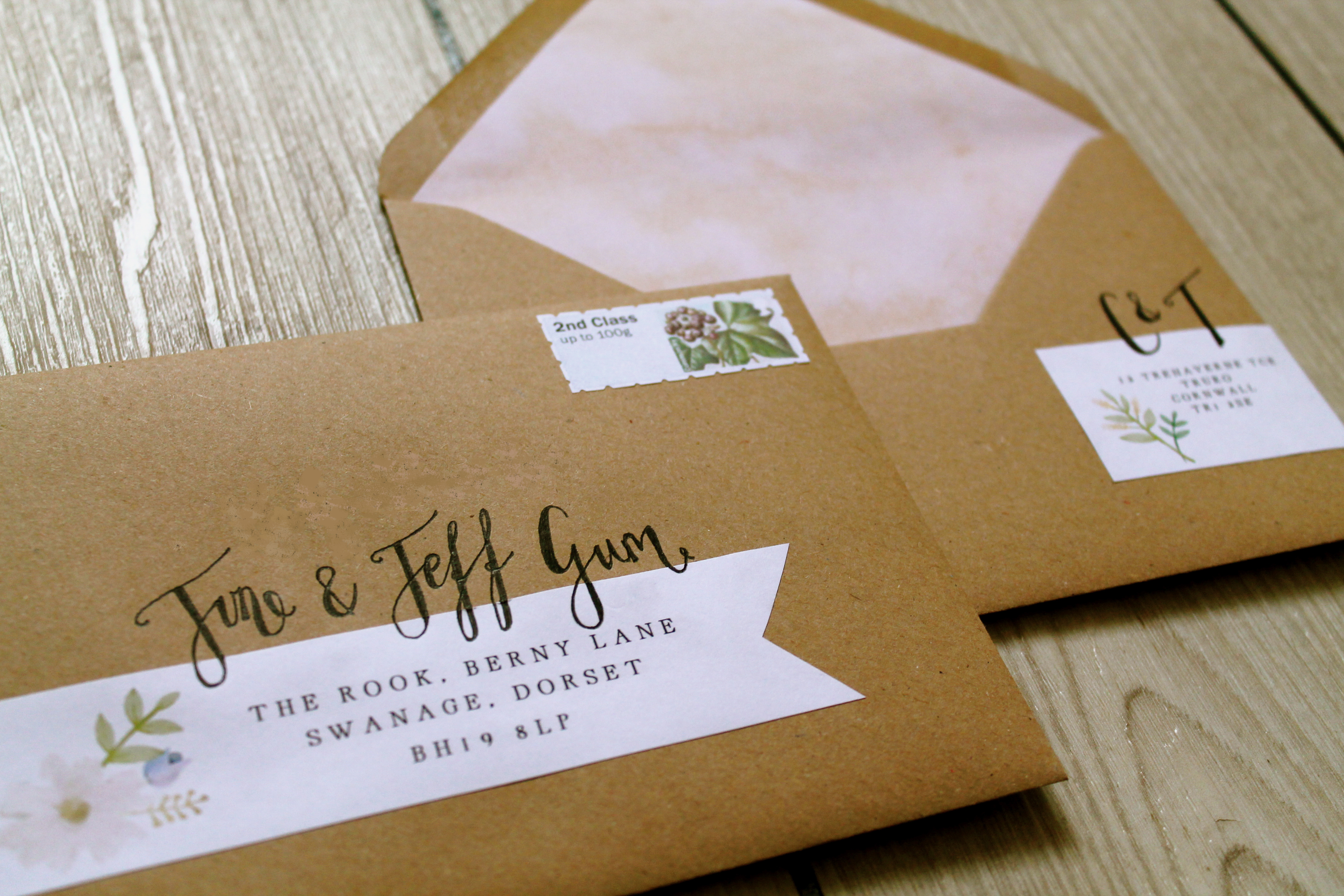 handsome hand lettering laura likes With wedding invitations handwritten or labels