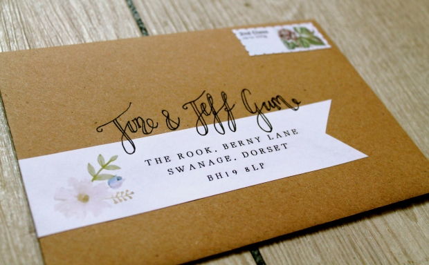 modern calligraphy handlettering handlettered envelopes address addressing wedding invitations beautiful guide handwritten laura likes cornwall uk address label guest customised floral rustic eco