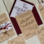 mistletoe, Christmas, winter, wedding, stationery, stationary, invitation, invite, rustic, marsala, Kraft, subtle, Cornish, cornwall, Laura likes