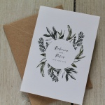 Norwegian, foliage, simple, leaves, leafy, botanical, illustration, green and white, wedding, stationery, stationer, stationary, invite, invitation, cornwall, cornish, Laura likes