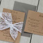 lace, vintage, rustic, Kraft, recycled, typewriter, wedding, stationery, stationer, invite, invitation, rsvp, Lacey, cornwall, Cornish, Laura likes