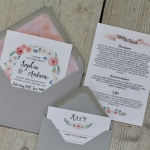 blush, pink, grey, floral, watercolour, flowers, calligraphy, wedding, invitation, invite, stationery, stationer, stationary, contemporary, cornwall, Cornish, Laura likes