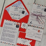airmail, vintage, world, aeroplane, wedding, invitation, invite, stationery, stationer, stationary, cornwall, Cornish, Laura likes