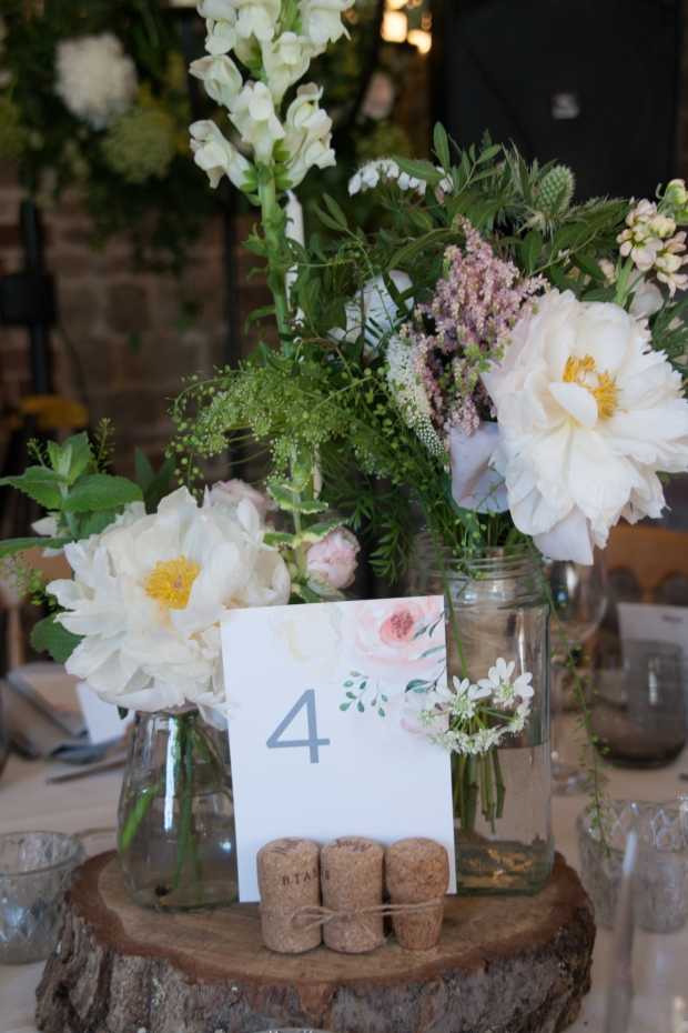 peony, floral, watercolour, rustic, wedding, table, number, name, centrepiece, stationery, stationary, reception, cornwall, uk, Laura likes