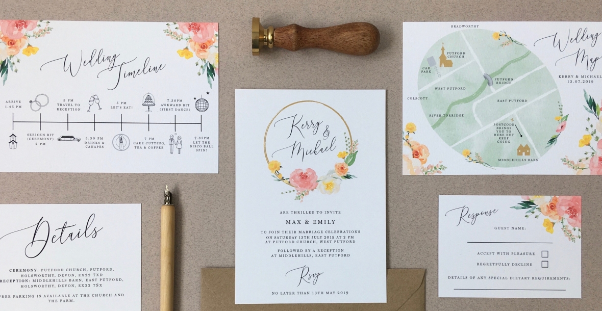 Laura Likes Bespoke Wedding Stationery From Cornwall Uk