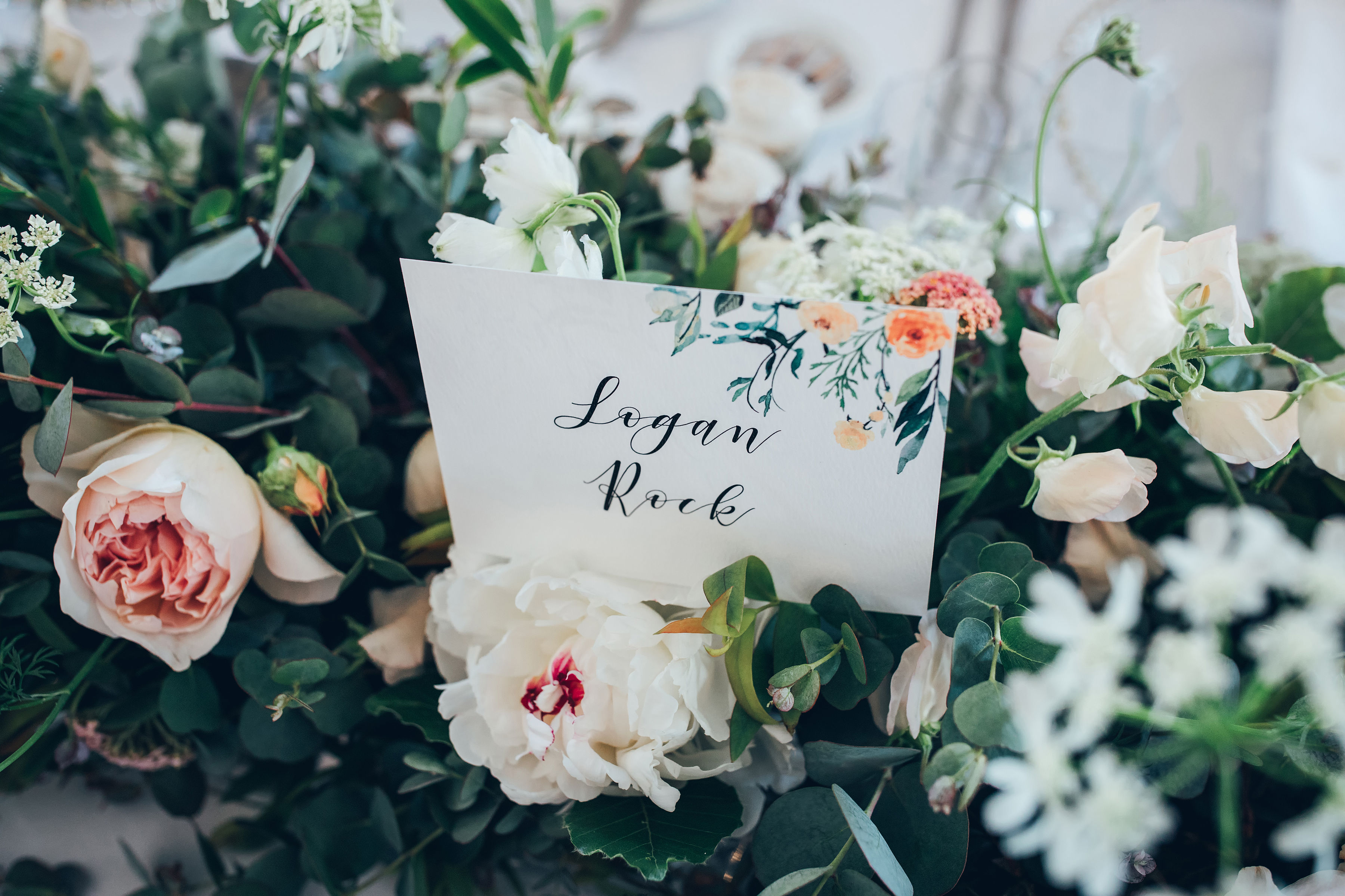 table, name, number, card, wedding, Cornwall, Laura likes, floral, sepia, watercolour