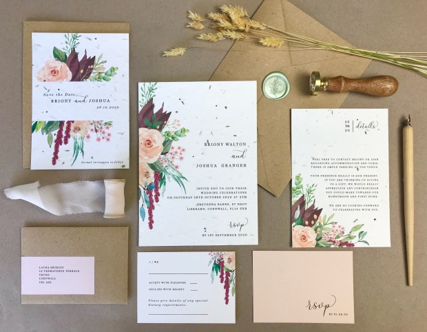 plantable, eco, seed, paper, grow, meadow, wildflower, tags, tag, menu, invitation, invite, wedding, invitations, invites, stationery, stationary, floral, flower, uk, Cornwall, Laura likes